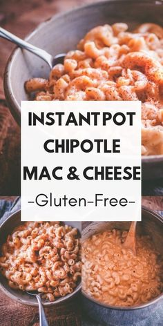This Gluten-Free Instant Pot Chipotle Macaroni and Cheese pasta dish makes for some super easy, healthy, and delicious comfort food that can be made in just about 10 minutes!  #chipotlemacandcheese