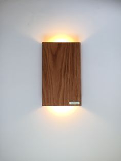 LED Wandleuchte aus Eichenholz Wall Lights, Lighting, Design, House, Home Decor, Nice Asses, Appliques, Decoration Home, Home