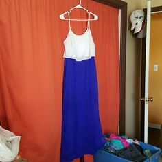 maxi Maxi with a shorter dress under and sheer bottom Charlotte Russe Dresses Maxi