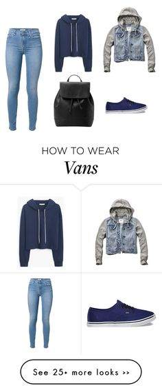 """Casual Blue"" by funk-fashion on Polyvore featuring 7 For All Mankind, MANGO, Abercrombie & Fitch and Vans"