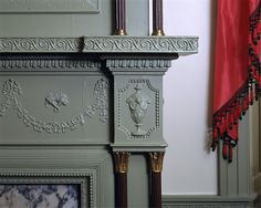[Detail] Fireplace from the parlor in the James Duncan Jr. house, Haverill, Massachusetts, ca. 1805.