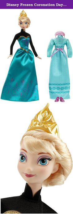 Disney Frozen Coronation Day Elsa Doll. The enchanting sisters from Disney's frozen come together in this amazing fashion collection! choose from Anna or Elsa doll, each of which wears their coronation day dress from the memorable scene in the movie when Elsa is crowned the queen of Arendelle. With two different fashions, dolls can transition from coronation day festivities to bedtime slumber. Girls can swap their beautiful ball gowns with comfortable nightgowns when its time to sleep. To...
