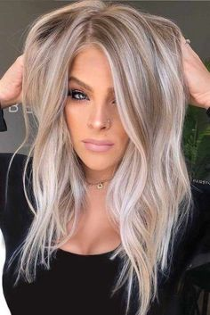 Awesome Balayage Hair Color Ideas and Shades for Women 2019 .- Awesome Balayage Hair Color Ideas and Shades for Women 2019 Awesome Balayage Hair Color Ideas and Shades for Women 2019 - Hair Color Balayage, Blonde Balayage, Hair Highlights, White Blonde Highlights, Blonde Brunette, Icey Blonde, Beach Blonde, Hair Colour, Blonde Hair Looks