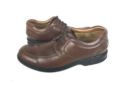 CLARKS Oxfords Mens 9.5 Brown LEATHER Casual Shoes #Clarks #Oxfords