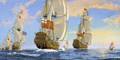 Image detail for -rendezvous at sunset during the restoration period naval ships were ...