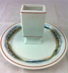 Match holder/ashtray from The Fleetwood Hotel - Miami Beach, FL (Lamberton China, 1920's)