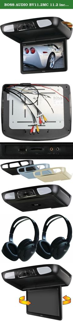 """BOSS AUDIO BV11.2MC 11.2 inch Widescreen Flip down & Swivel Monitor with DVD player, Wireless Remote, 2 pair Wireless Headphone included, includes Black, Gray, Tan interchangeable skins. Keep the kids busy on your next road trip with the BOSS Audio BV11.2MC featuring an 11.2"""" Universal Widescreen Overhead Monitor. Mounted to the ceiling of your vehicle it replaces the existing dome light. The screen can be flipped down and swivelled by 30- degrees so no one misses a thing. Pop a movie…"""