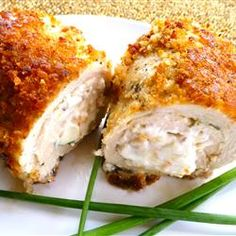 Easy stuffed chicken breast recipe! making this for dinner tonight, I added spinach to mine.