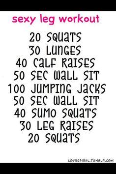 Sexy leg workout aka derby stance workout