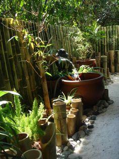 Id e d co pour le jardin optez pour une fontaine en - Deco bambou jardin ...