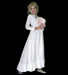 Victorian Combing Robe - White Antique Dressing Gown - As Is - Study - Cosplay