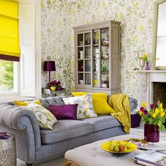 Aubergine and Mustard colour scheme - beautiful and strangely peaceful