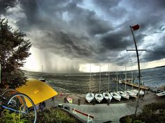 Storm approaching the Union docks