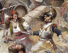 Combattimento tra corazziere francese e partigiano spagnolo