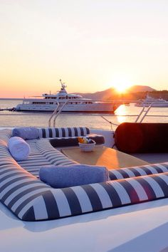 Surrounded by super yachts in Ibiza summer 2013 Luxury Yacht Interior, Boat Interior, Interior Design, Billard Design, Bateau Yacht, Yacht World, Yacht Party, Yacht Boat, Sailing Yachts
