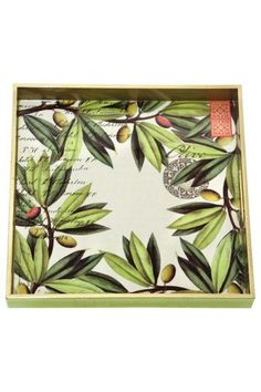Our Olive decoupage trays have been very popular as a thankyou gift.