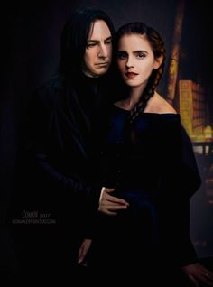 Snape And Hermione, Severus Snape, Hermione Granger, Verona, Alan Rickman, Harry Potter Art, Fan Art, Actors, People