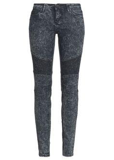 Eight2Nine Damen Acid Jeans Slim Fit 5-Pocket Style Knie mit Steppung schwarz denim kaufen | 77Store