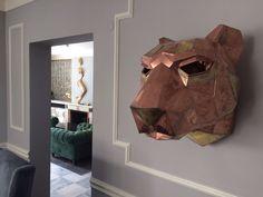 SharpTiger Sculpture Project brass and zinc sheet for residential 2015  istanbul turkey viktor yuksel architect hasan sefa sofuoglu interiors #viktoryuksel