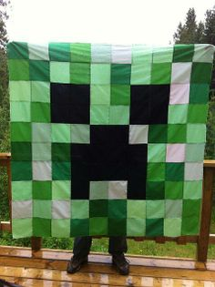 Mine craft blanket.