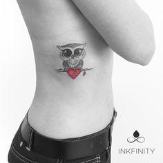 Cute Owl tattoo @INKFINITY