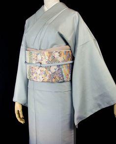 いいね!123件、コメント1件 ― 千成堂着物店 (せんなりどうきものてん)さん(@sennari_kimono)のInstagramアカウント: 「加賀白山紬の付下げ×季節もの!桜の帯のコーディネートです。 帯締めは水色、帯揚げはグレー。 洗練された、ぼかしの風合いは色無地感覚のコーディネートが楽しめます。 お茶席にも、いい感じですね~。…」