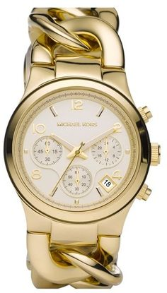 $250, MICHAEL Michael Kors Michl Michl Kors Michl Kors Chain Bracelet Chronograph Watch 38mm. Sold by Nordstrom.