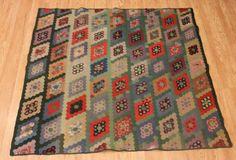 Early Antique Mennonite Mosaic Hexagon Flower Garden Variation Quilt | eBay