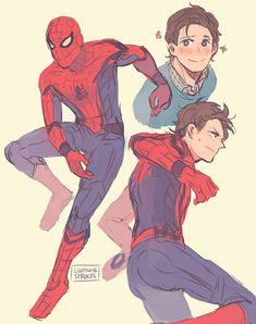 Tom Holland as Spiderman Marvel Comics, Hq Marvel, Marvel Fan Art, Marvel Memes, Captain Marvel, Spiderman Art, Parker Spiderman, Amazing Spiderman, Spideypool