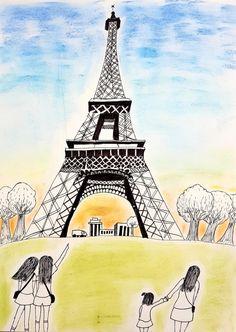 위례미술학원/고학년미술 : 네이버 블로그 Painting For Kids, Art For Kids, Tower, Draw, Travel, Kids Coloring, Art For Toddlers, Art Kids, Rook