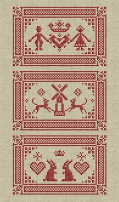 by spring pincushions Cross Stitch Samplers, Cross Stitching, Cross Stitch Embroidery, Applique Patterns, Applique Quilts, Cross Stitch Designs, Cross Stitch Patterns, Blackwork, Sewing Case