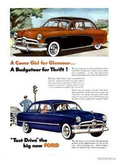 1950 Ford Tudor Ad - Car Pictures