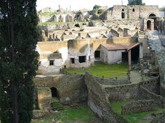 Pompeii (Italy). Destroyed by volcanism in 79 AD.