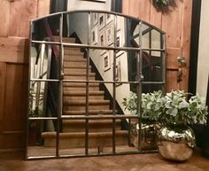 Slow Arched antique window mirror restoration for interior display