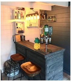 Home Bar Rooms, Home Bar Areas, Diy Home Bar, Home Pub, Home Bar Decor, Diy Bar, In Home Bar Ideas, Bar Interior, Small Bars For Home