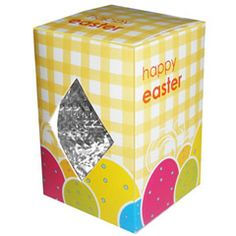 Budget Micro Easter Egg. Micro Egg Box - Silver Foil Milk Chocolate size: 52mm x 35mm x 35mm weight: 18g