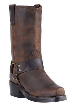 Dingo Women's Molly Gaucho Nutty Mule Harness Cowgirl Boots $119