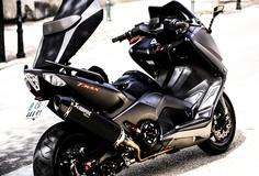 BlackMax by Aziz Haddad on Yamaha Scooter, Trike Bicycle, Yamaha Motorcycles, Cars And Motorcycles, Scooter Custom, Custom Bikes, Motor Scooters, Motor Car, Tmax Yamaha