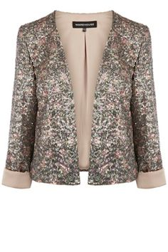 Blurred Floral Sequin Blazer