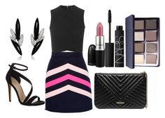 """Untitled #1203"" by fabianarveloc on Polyvore featuring MSGM, Topshop, Carvela Kurt Geiger, GUESS, AS29, MAC Cosmetics, NARS Cosmetics and Bobbi Brown Cosmetics"