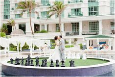 bride and groom kiss | Sandos cancun luxury wedding