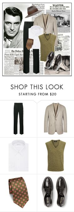 """""""Clyde"""" by katerina8606 ❤ liked on Polyvore featuring Bonnie Clyde, Raf Simons, Pal Zileri, Van Heusen, Joseph, Kiton, Prada, Undercover, men's fashion and menswear"""