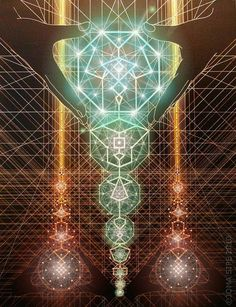 The Coming of the Holy Spirit • 90x70cm • sacred geometry • artist: joma sipe (portugal)