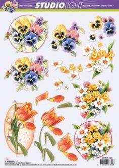Nieuw bij Knutselparade: 2558 Studio Light knipvel bloemen STAP SL 1020 https://knutselparade.nl/nl/bloemen/1461-2558-studio-light-knipvel-bloemen-stap-sl-1020.html   Knipvellen, Bloemen  -  Studio Light