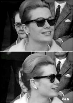 Princess Grace attends to a Monaco FC Football Match in 1959