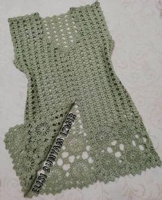 Gilet Crochet, Crochet Shirt, Crochet Jacket, Crochet Cardigan, Crochet Top, Knitting Paterns, Crochet Stitches, Crochet Baby Dress Pattern, Crochet Patterns