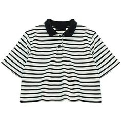 Chicnova Fashion Loose Fit Stripe Print T-shirt (156.695 IDR) ❤ liked on Polyvore featuring tops, t-shirts, crop tops, shirts, stripe t shirt, crop t shirt, t shirt, loose t shirt and loose crop tee