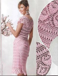 MODELOS DE VESTIDOS Y FALDAS A CROCHET | Patrones Crochet, Manualidades y Reciclado