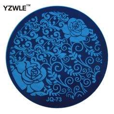YZWLE Hot Sale Nail Art Stainless Steel Plate Image Stamp Stamping Plates DIY Manicure Template Nail Polish Tools (JQ-73)