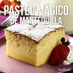 Video of Magic Butter Cake- Video de Pastel Mágico de Mantequilla Prepare this delicious butter cake in which with a dough you will have 3 different textures. Easy Cheesecake Recipes, Dessert Recipes, Food Cakes, Cupcake Cakes, Mexican Food Recipes, Sweet Recipes, Cake Recipes From Scratch, Savoury Cake, Four